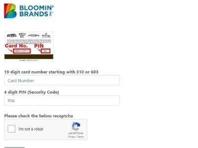Check Your Bloomin brands gift card balance in 3 Clicks