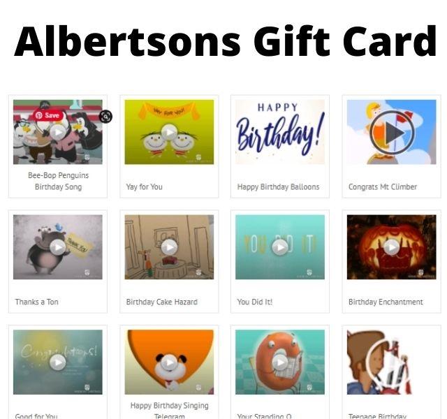 Albertsons  gift card balance check