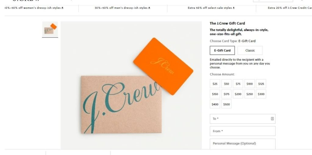 Know your J Crew gift card balance in 3 Clicks -