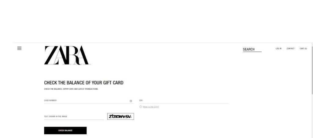 Check your Zara gift card balance in 3 Clicks -