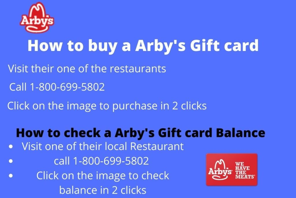 check Arby's gift card balance in 3 clicks
