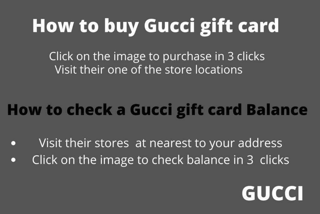 gucci gift card balance check