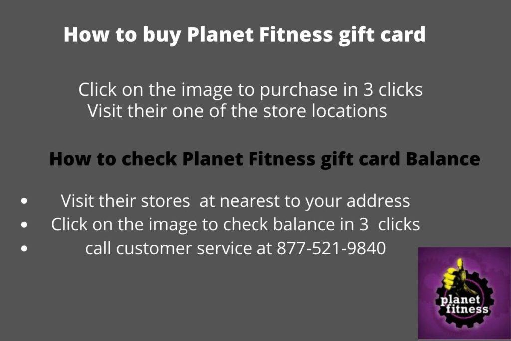 Planet fitness gift card balance check