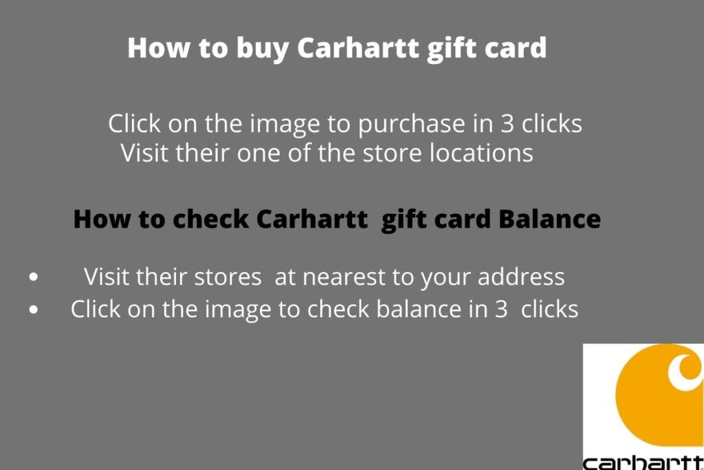 Carhartt gift card balance check