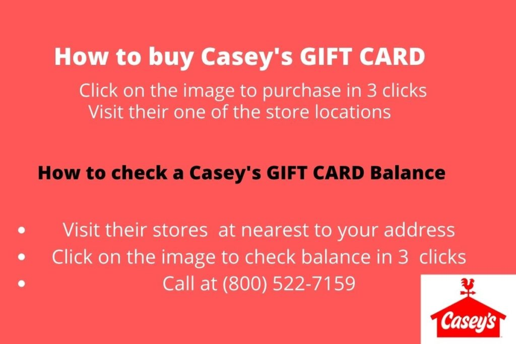 Check Your Casey's Gift Card