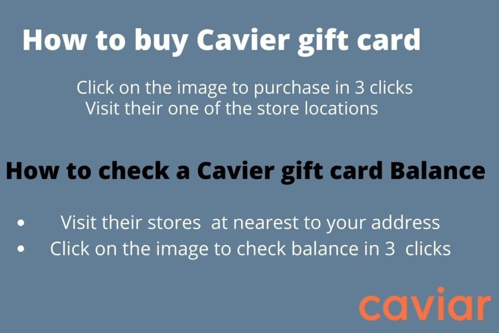 Caviar gift card balance check