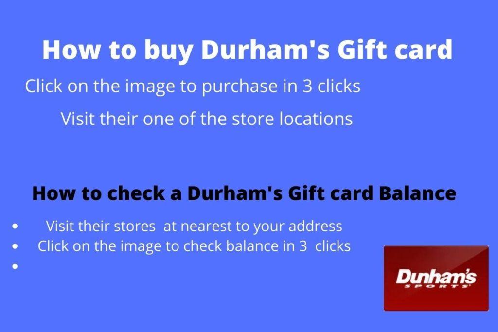 Know your Dunham's gift card balance in 3 clicks check
