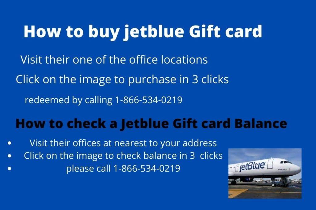 Jetblue gift card balance check in 3 clicks