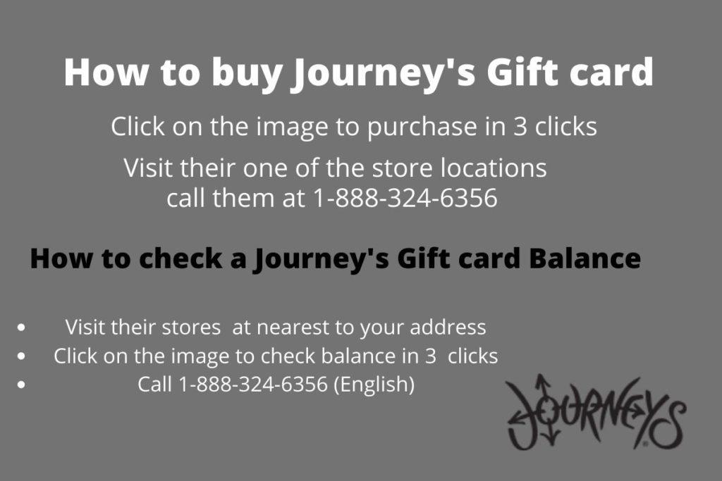journeys gift card balance check