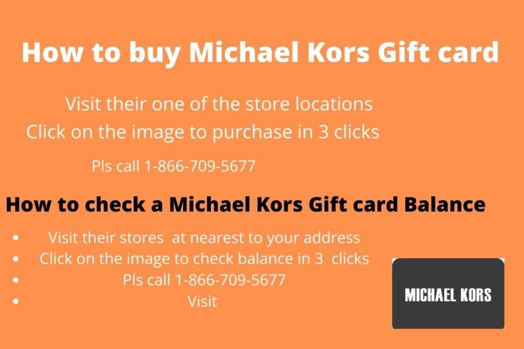 Michael kors gift card balance check