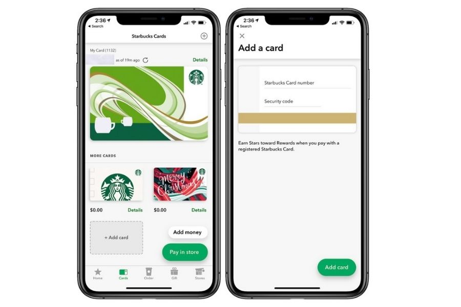 How to Add Starbucks Gift Card to App