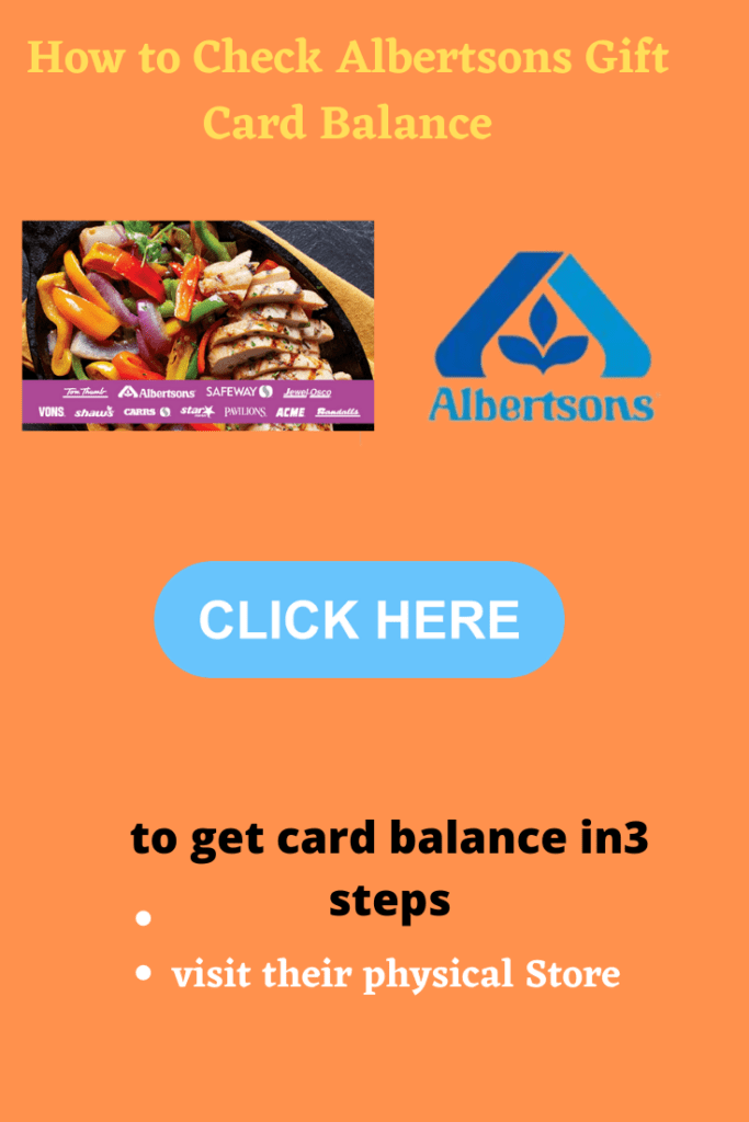 Know Your Albertsons Gift Card Balance in 3 Clicks